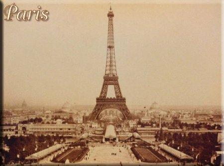 Cartexpo M15253 Divers Carte Paris Tour Eiffel N°1 Métal 15 x 20 cm