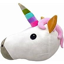 WEP Rosa Caca Emoji Almohada Queen Princesa Lady Nerd Smiley Unicorn Emoticono Pig Cojín de Perro