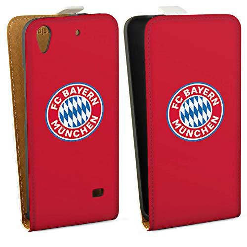 DeinDesign Huawei Ascend G620s Tasche Hülle Flip Case FC Bayern München Rot Fanartikel Merchandise