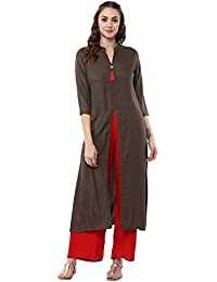 Aahwan Long Rayon Straight Kurtis For Women With Front Slit (AC-Front-Slit)
