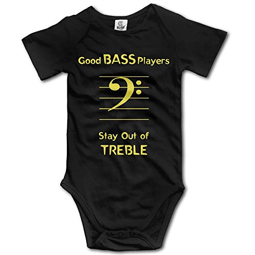 Huahai Unisex Good Bass Players Stay Out of Treble Baby Outfits Onesies -