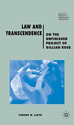 Law and Transcendence: On the Unfinished Project of Gillian Rose (Renewing Philosophy) by Vincent W. Professor Lloyd (2009-01-01)
