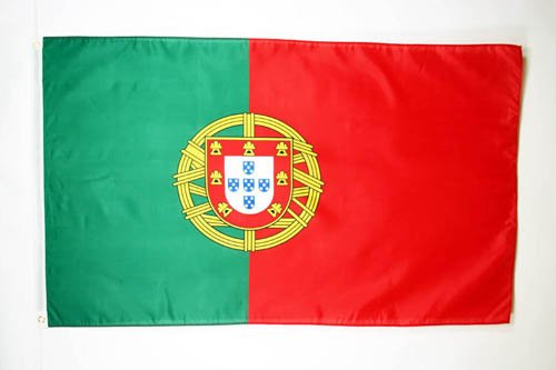 FLAGGE PORTUGAL 150x90cm - PORTUGIESISCHE FAHNE 90 x 150 cm feiner polyester - flaggen AZ FLAG