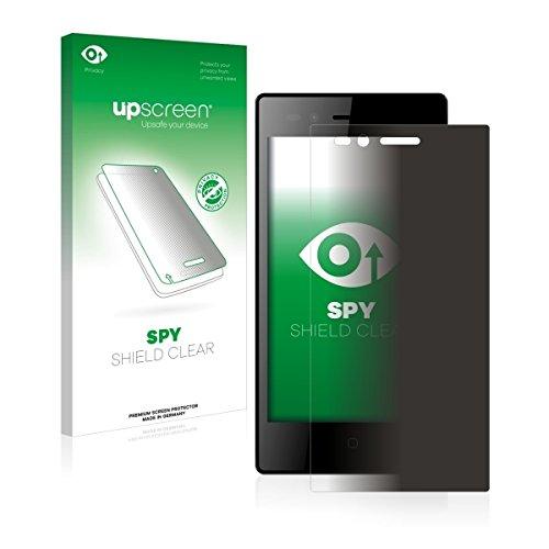 upscreen Spy Shield Clear Blickschutzfolie / Privacy für Siswoo A5 Chocolate (Sichtschutz ab 30°, Kratzschutz, selbstklebend)