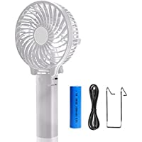 Anmete Mini Handheld Fan Portable USB Rechargeable Foldable Cooling Fan Battery Operated Fan For Home Office Outdoor Travel Workout Camping Table Desk Laptop Kids Baby Pram Stroller Car