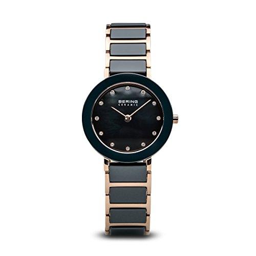BERING Damen-Armbanduhr Analog Quarz Edelstahl 11429-767