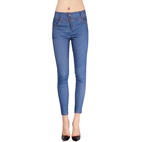 BAINA Damen Hose Skinny Röhre Push up Hose Stretch Slimfit Jeggings Leggings Stretch Röhrenjeans Jeans -
