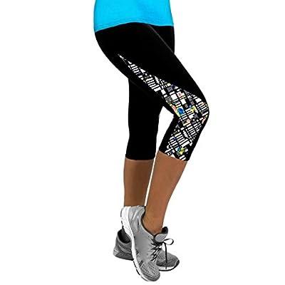 Damen Yogahose,Beikoard Frauen Damen Blumen SportYoga Fitness Leggings Gym 3/4 Slim Hose Hose Gym Hosen Workout Kleidung Yoga High Waist Lang Tights