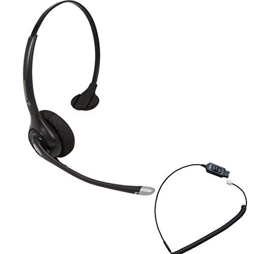 Avaya Compatible Plantronics HW251N VoIP Noise Canceling Headset Bundle  Avaya 1600, 9600 IP Phones: 1608, 1616, 9601, 9608, 9610, 9611, 9611G,  9620,