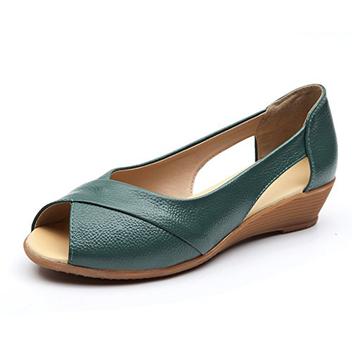 Estate Donna Sandali scarpe tacchi alti impermeabile,39 nero Green