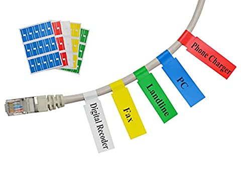 Meta-Label® Assorted Colors Self-adhesive Cable Label - Waterproof | Tear