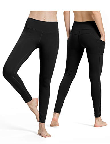 ALONG FIT Sport Leggings mit Taschen Damen Sporthose Yogahose Fitnesshose Yoga Leggings für Damen, 2er Pack -