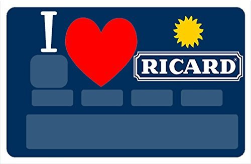 Sticker CB i Love Ricard Autocollant Carte bancaire Deco Skin Humour Boutique Hotel Taxi Carte Bleue visa refus