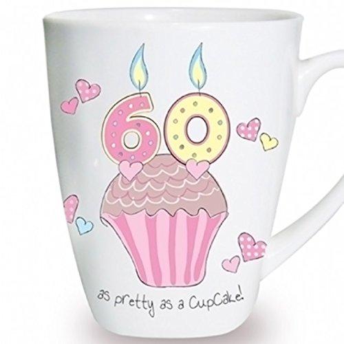 C.P.M. Cupcake Tasse Andenken Neuheit Tasse Geschenk Kaffee Tee 60. Geburtstag