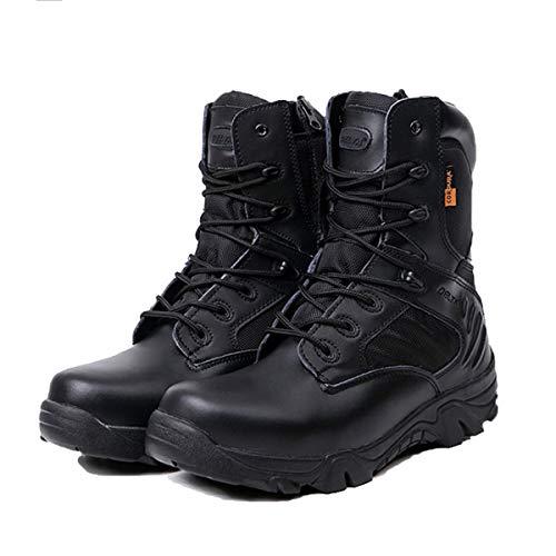 Adong Mens High Rise Hiking Boots Jungle Trekking Schuhe Non Slip Breathable Outdoor Schuhe Waterproof Boots Desert Stiefel,A,39EU