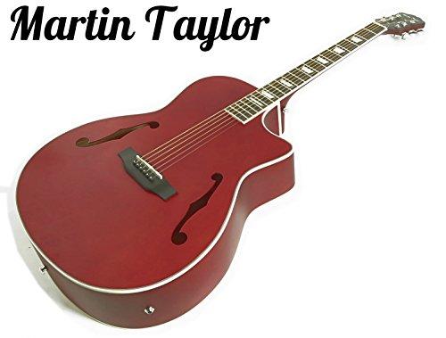 Martin Taylor elettrico Chitarra Elettrica semiacustica Hollow Body (Fender Plettri satinata Rosso cardinale)