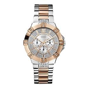 Guess W0024L1 - Reloj analógico de cuarzo para mujer con correa de acero inoxidable, color multicolor de Guess
