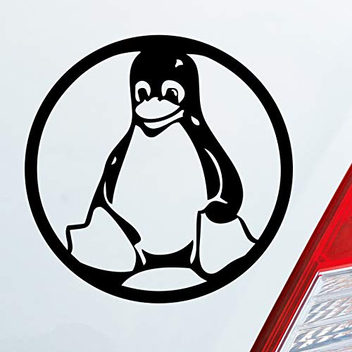 Auto Aufkleber Linux Pinguin Tux 10x10cm Sticker Folie