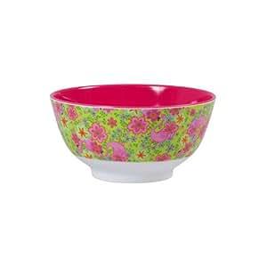 Rice - Mélamine bol avec des flamants roses