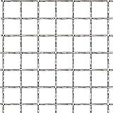 Tidyard- Pannello per Recinzione, Pannello Rete Metallica Modulare Acciaio 100x85 cm 21x21x2,5 mm