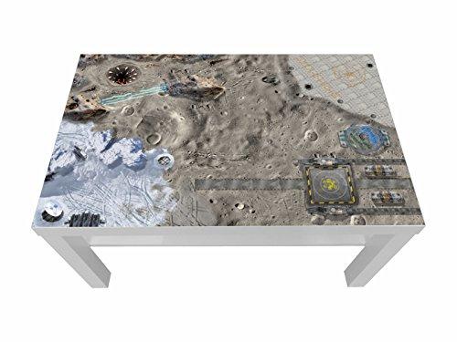 Weltraum Möbelfolie / Aufkleber - LCK10 - passgenau für den LACK Couchtisch (90 x 55 cm) von IKEA - In wenigen Minuten zum einzigartigen Spieltisch für Kinder! (Möbel nicht inklusive)