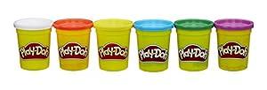 Play-Doh - Pack de 6 botes con colores primarios (Hasbro B6755EU4)