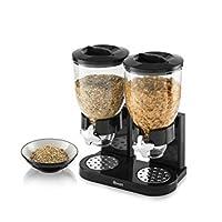 Mantieni i tuoi cereali freschi e ordinatamente riposto con questo doppio, 5L dispenser per cereali. Perfetto per riporre tutto, dai cereali ai granolas o mueslis, l' erogatore è dotato di due facile da usare, girevole manopole, facilmente er...