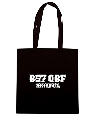 T-Shirtshock - Borsa Shopping WC1128 bristol-rovers-postcode-tshirt design Nero