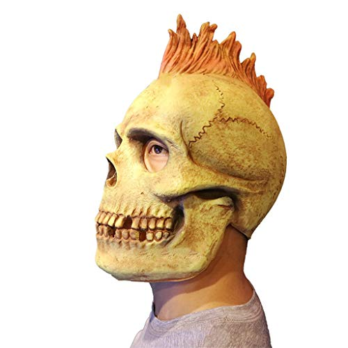 Masken Halloween Latex Kopf Masken, Dämon Teufel Schädel Monste Grimasse Kostüm Spukhaus Horror Zombie Lustige Scary Creepy Ghost Fancy Dress (Teufel Maske Schädel)
