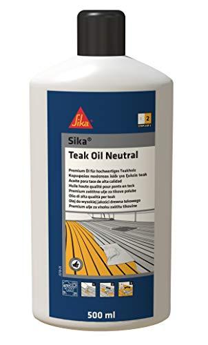 Sika Teak Oil Neutral-Schützendes Bio-Öl für Brücken aus Teakholz -500ml -