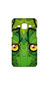 Green Dragon Face Stylish Mobile Case/Cover For Samsung Galaxy J1