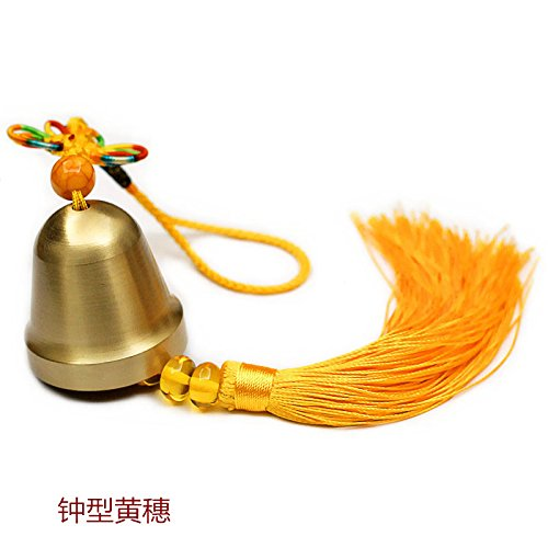 BAGEHAN Messing Glocke Brassiere Armband Tür Ornament Auto Anhänger Messing Messing Armreif, D