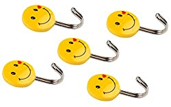 Self Adhesive Smiley Hooks, 5 Pieces, Load Capacity 0.5kg