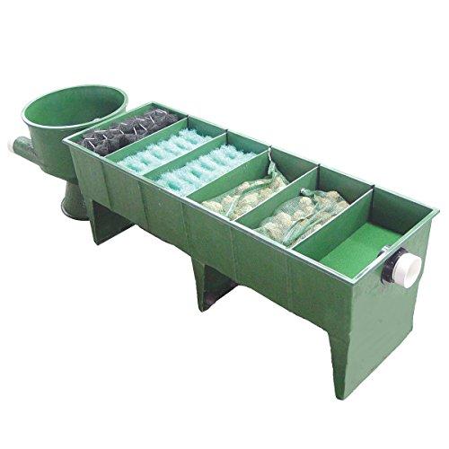 Koi GFK 6-Kammer Vortex Teichfilter bis 60.000 Liter inkl. Deckel, Filtermaterial + Verrohrung