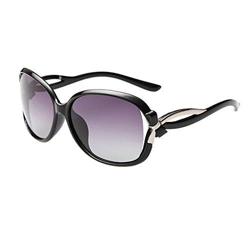 Duco Damen stilvolle Sonnenbrille Polarisiert Star Brille 100% UV-Schutz 2229 (Schwarz)