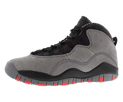 reputable site a3532 63fab Nike Jungen Air Jordan 10 Retro BG Turnschuhe, Grau Rot Schwarz (Cool