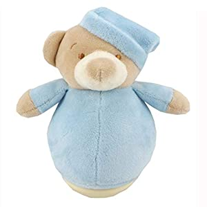 Duffi Baby- Peluche Balanceo Osito, 100% Poliéster, Color Azul (Master Baby Home, S.L. 0757-12)
