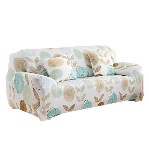 Elastisch Stretch Sofabezüge Für Einzel / 3-Sitzer Couch - Frische Touch, 190-230cm