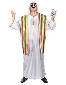 WIDMANN Widman - Disfraz de árabe para hombre, talla L