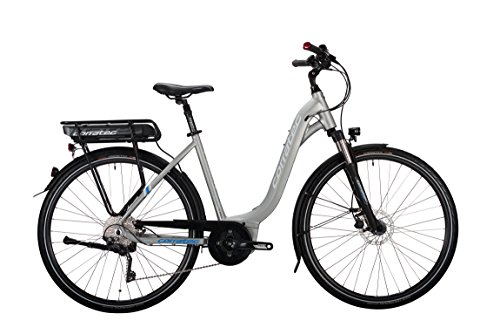Corratec Damen E-Power 28 Urban Active 10s Wave Fahrrad, Silber/Matt/Weiß/Process Blau, 45