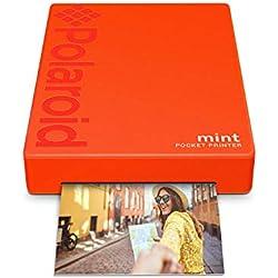 Polaroid Mint Imprimante avec technologie Zink Zero Printer Ink et Bluetooth intégré pour appareils Android et iOS - Rouge