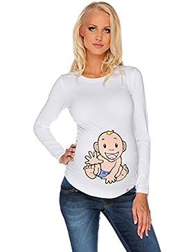 Maglietta premaman Bambino bianca Abbigliamento Premaman MY TUMMY ®©™