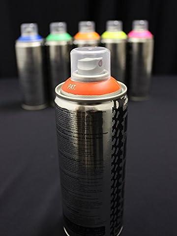Bombe peinture fluorescente UV 400ml Rouge