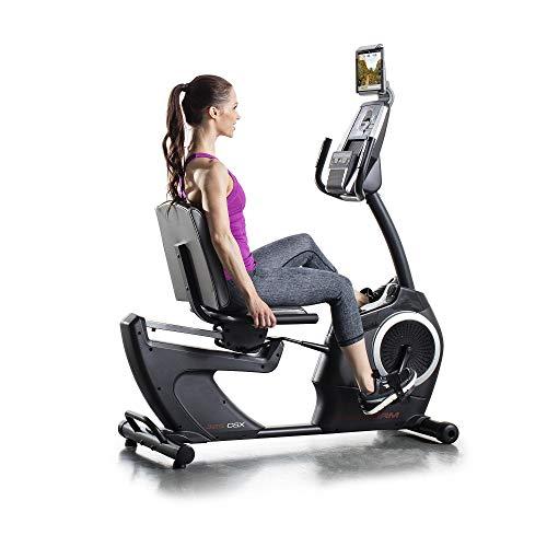 Proform 325 CSX Vélo d'appartement semi-allongé, assise avec dossier, compatible Bluetooth Appli iFit Cardio (abonnement en option), 24 programmes, 22 niveaux de résistance
