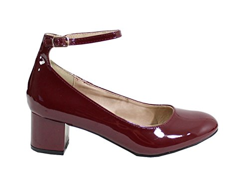 By Shoes ,Ballerine Donna Wine Red