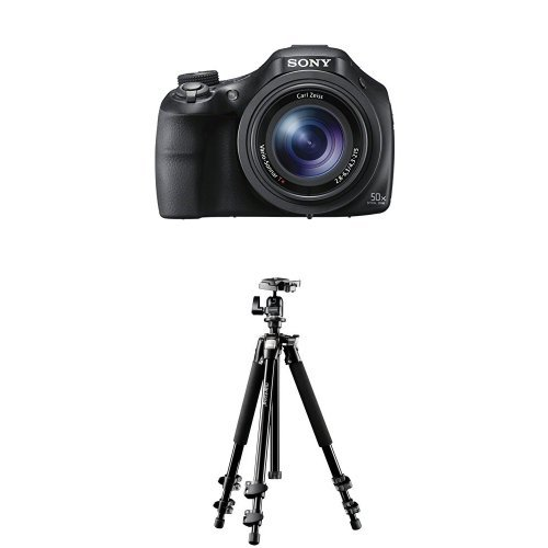 Sony DSC-HX400V Digitalkamera (20.4 Megapixel, 50-fach opt. Zoom, 7,5 cm (3 Zoll), WiFi/NFC) schwarz + Mantona Scout