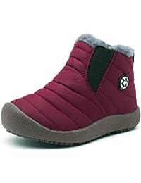 Gaatpot Zapatos Invierno Niña Niño Botas de Nieve Forradas Zapatillas Sneaker Botines Planas para Unisex Niños 27.5-40
