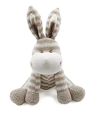 Kiyi-Gift Baby Comforter Toy | Cute Soft Donkey Plush Toy | Organic Cotton Knitted Huggable for Baby/Infant/Toddler