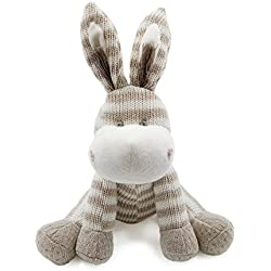 Kiyi-Gift Bebé Juguete | Adorable Juguete de Peluche de Burro | Algodón Orgánico Suave para Bebé