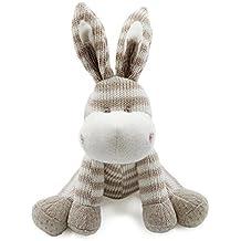 Kiyi-Gift Bebé Juguete   Adorable Juguete de Peluche de Burro   Algodón Orgánico Suave para Bebé